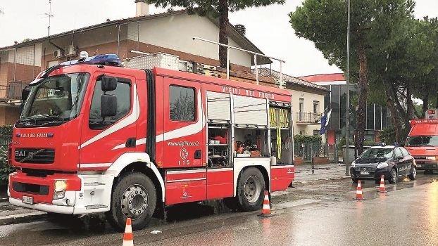 I Vigili del fuoco durante un intervento