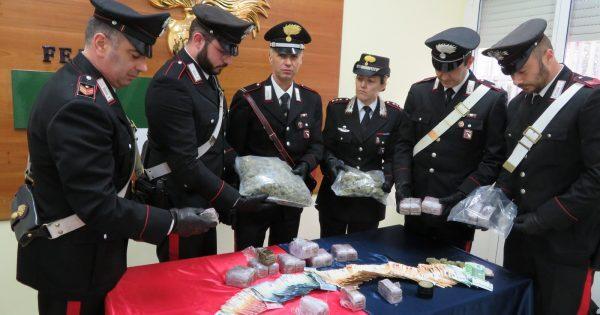 Castel Bolognese, arrestato con 7,5 kg di droga e 20mila euro