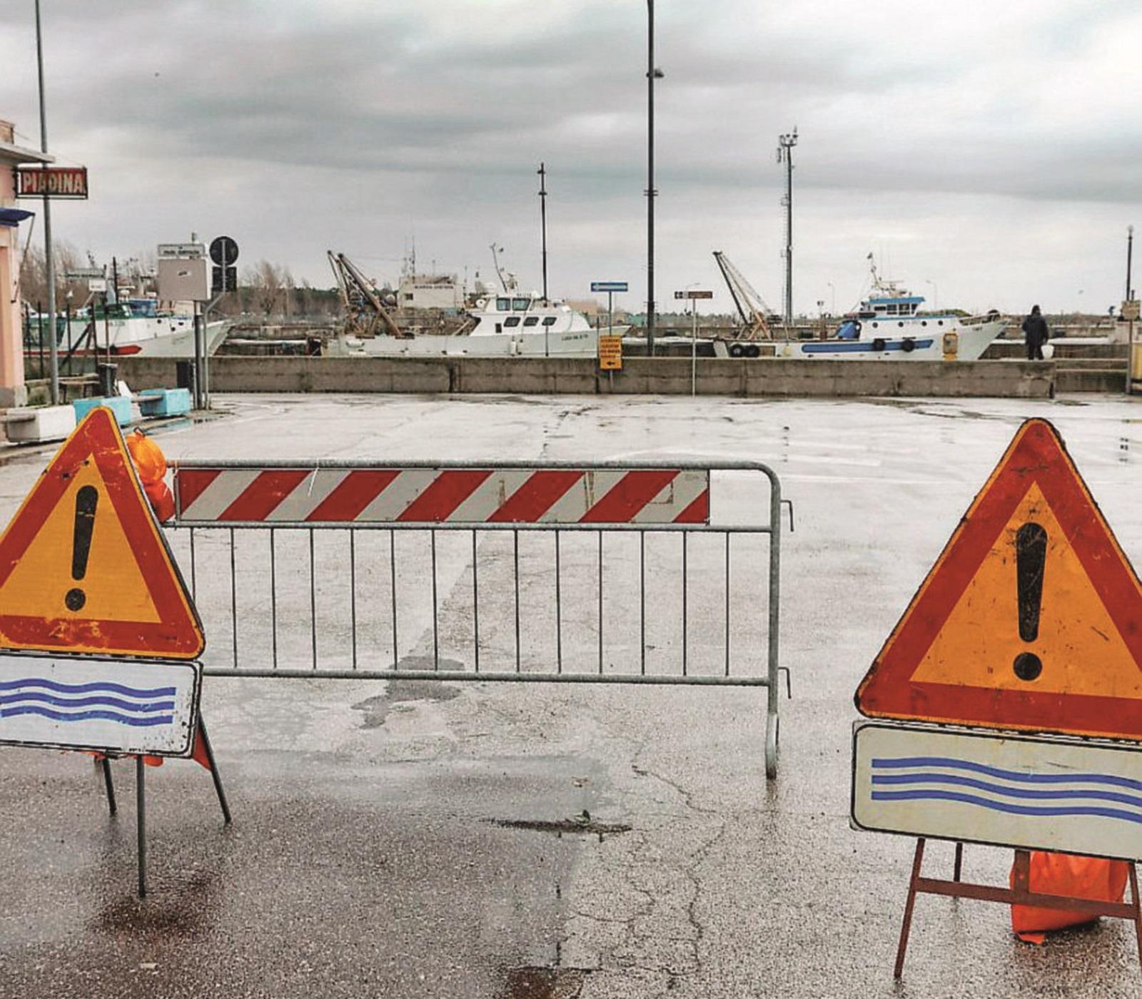Pioggia torrenziale, Marina allagata