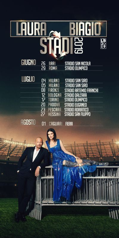 Al via da Bari il tour in 11 tappe di Laura Pausini e Biagio Antonacci