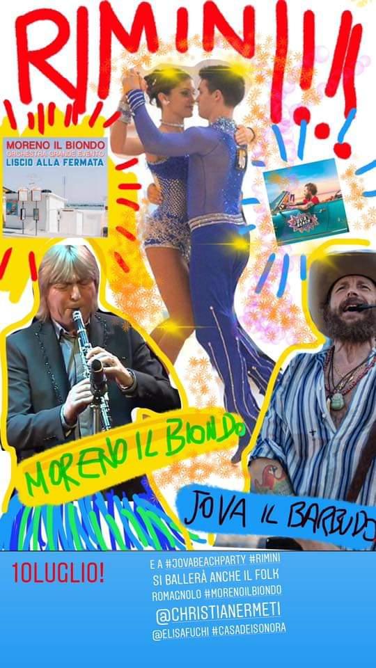 Al Jova Beach Party di Rimini si ballerà anche Romagna mia
