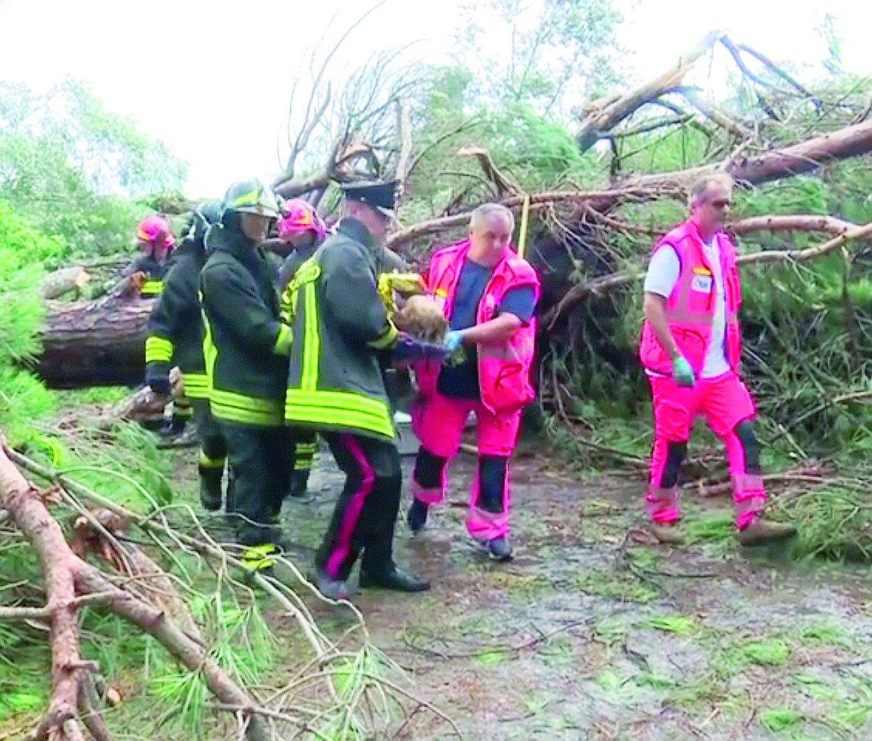 Colpita da pino durante la tempesta di Milano Marittima, ferita resta grave