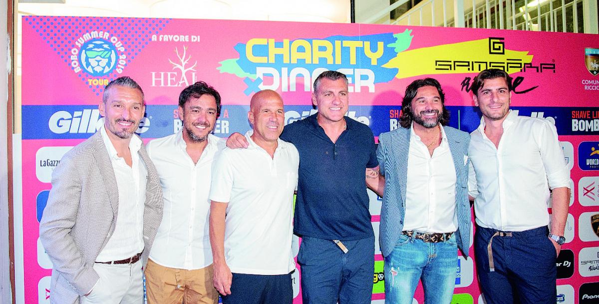 Riccione, Bobo Vieri raccoglie 21mila euro