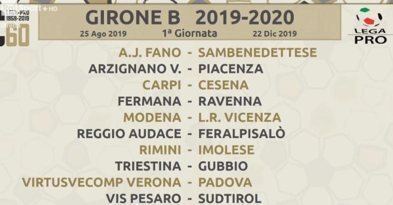 Calcio serie C, si parte con il derby Rimini-Imolese