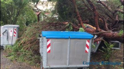 Tromba marina devasta Milano Marittima, il video del disastro