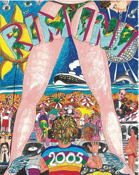Il Jova Beach Party nella cartolina di Rimini di Jovanotti dell'estate 2005