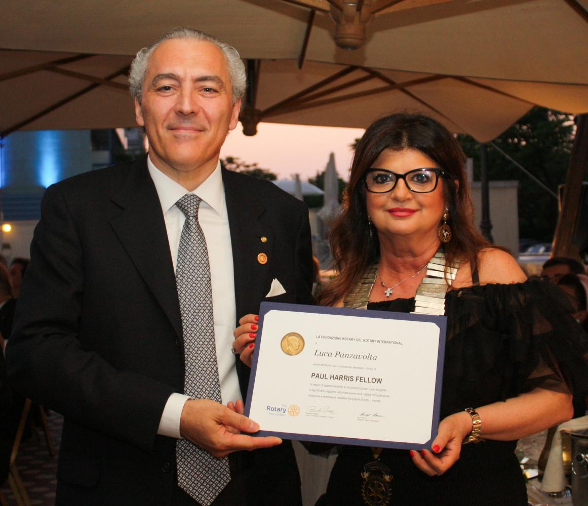 Rotary Club Cesena, Paul Harris Fellow al manager Luca Panzavolta