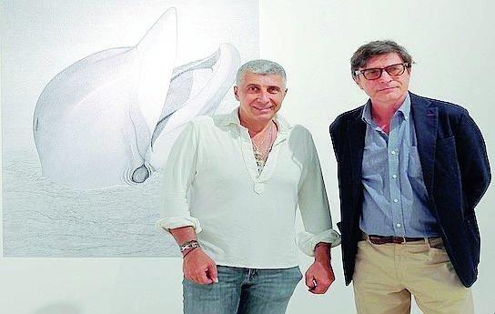 Il fratello pittore del Presidente Europeo espone all'Augeo di Rimini