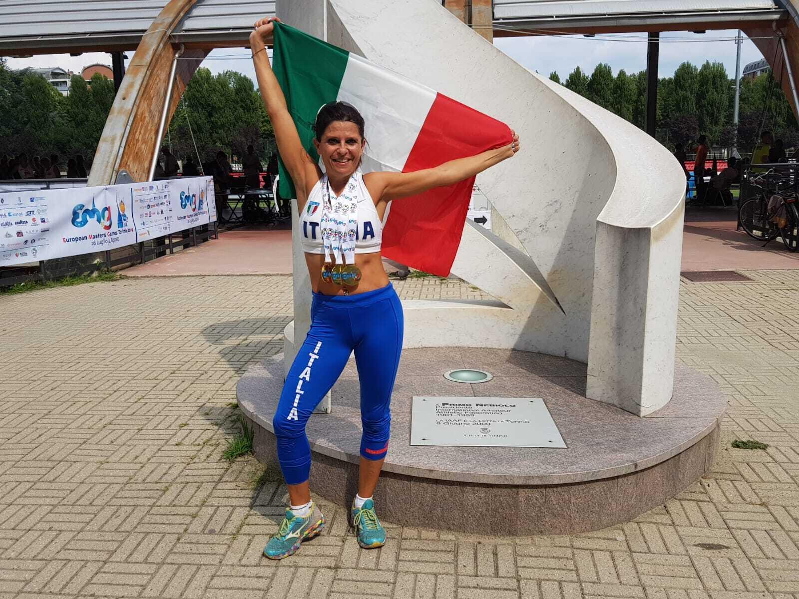 Atletica Master, triplo oro europeo per Cristina Sanulli
