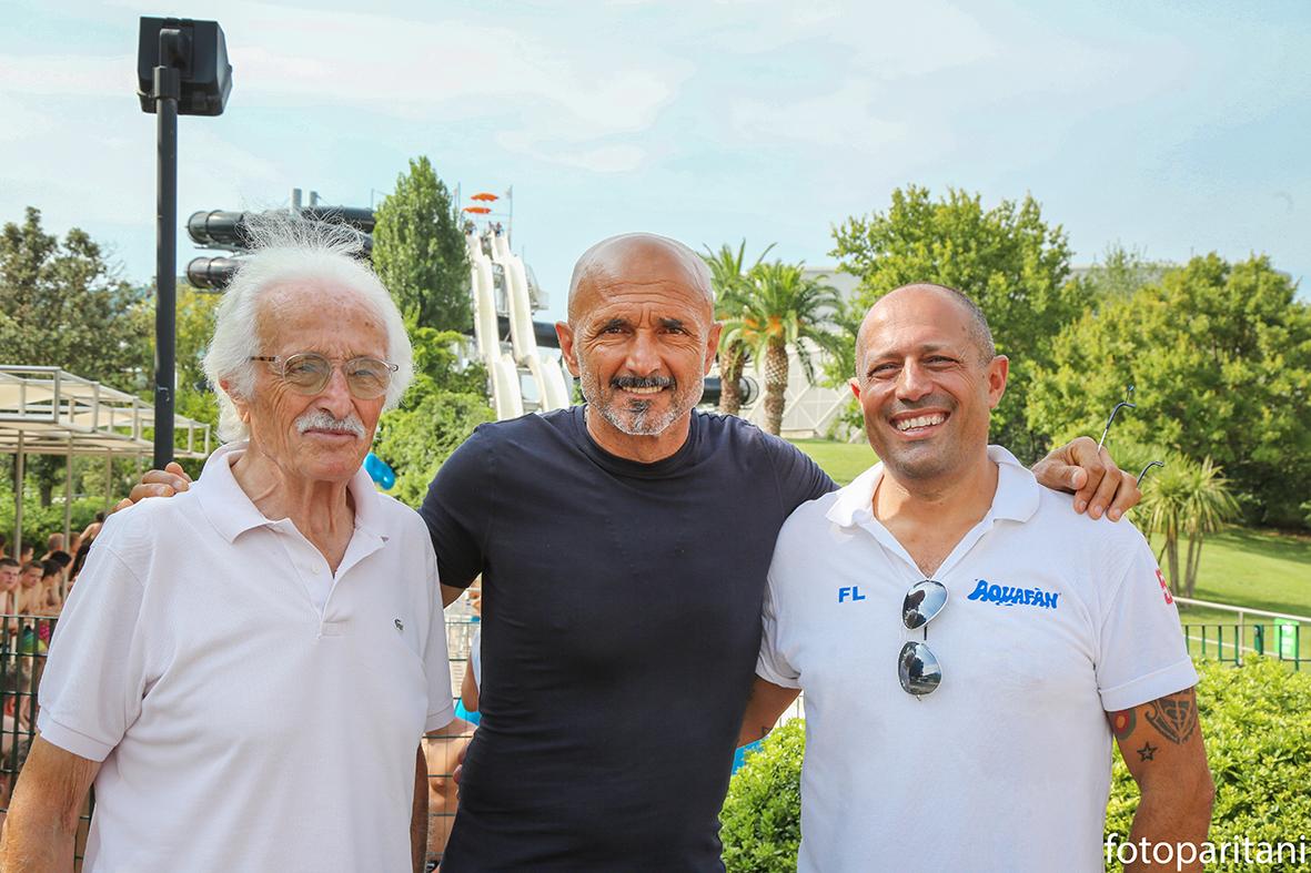 Luciano Spalletti all'Aquafan di Riccione