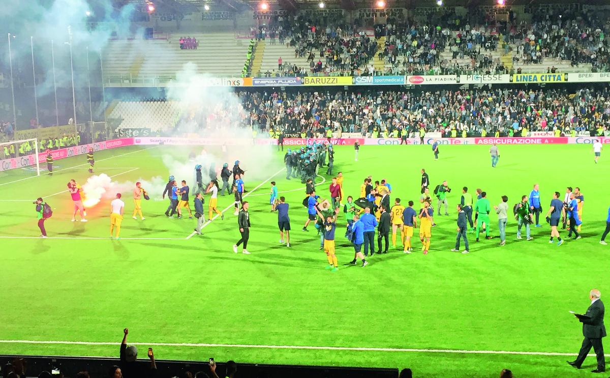 Invasione di campo in Cesena-Hellas Verona di B, in 14 a processo