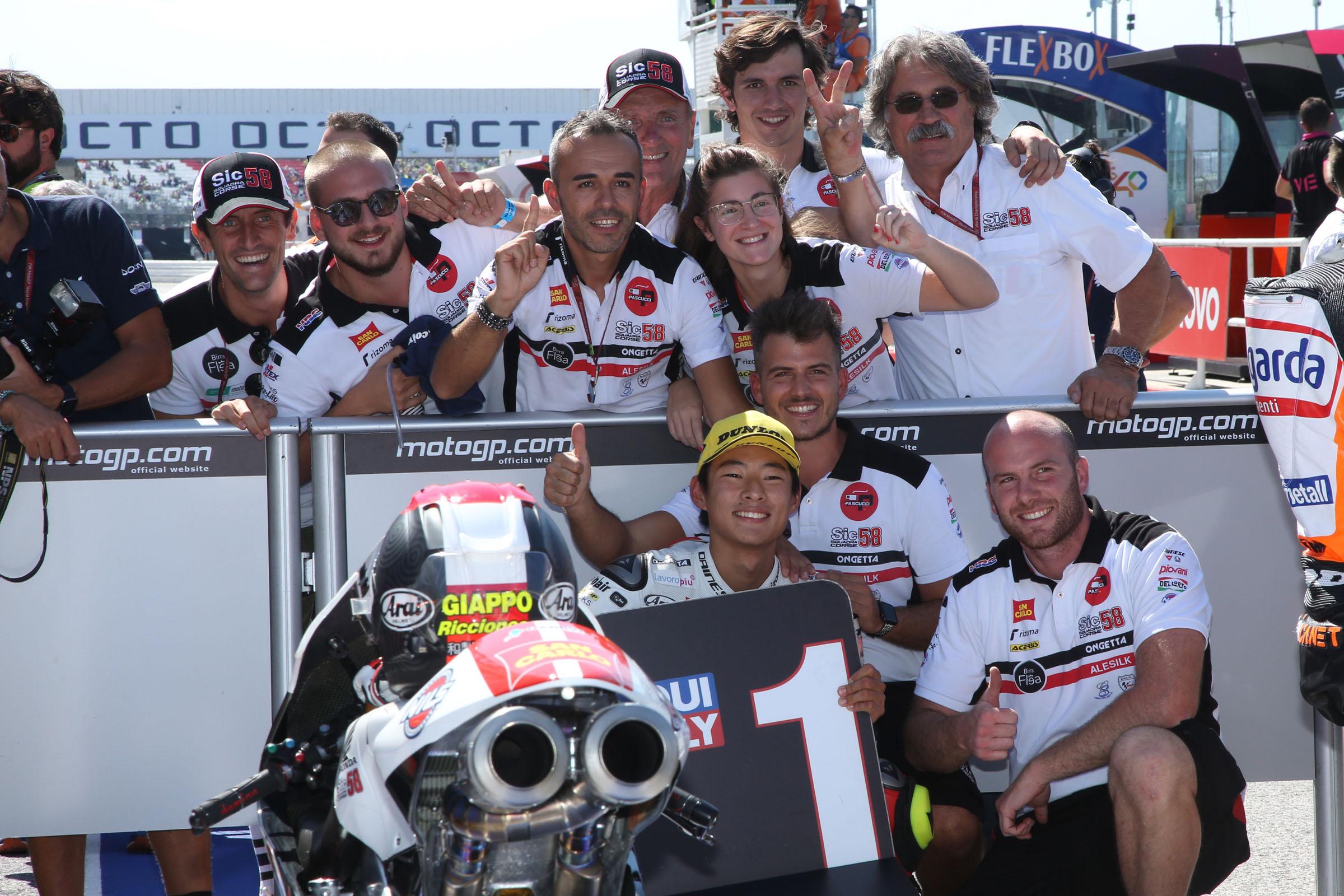Moto3, festa in casa per Simoncelli grazie a Suzuki