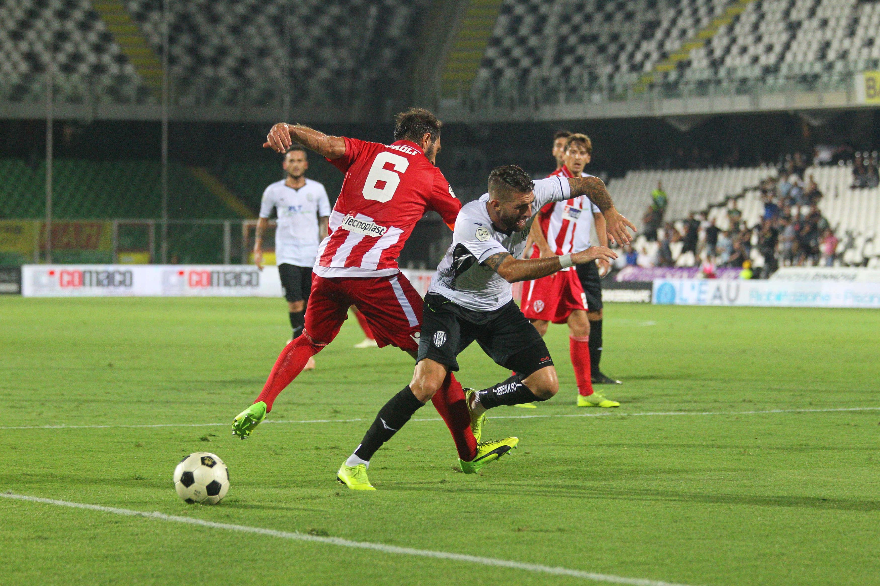 Calcio C, il Cesena riesce a farsi male da solo (1-2)