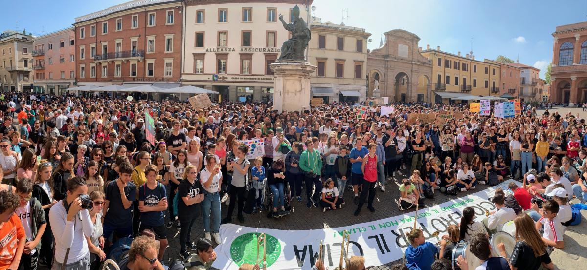 Fridays for future Rimini, il corteo arriva in piazza