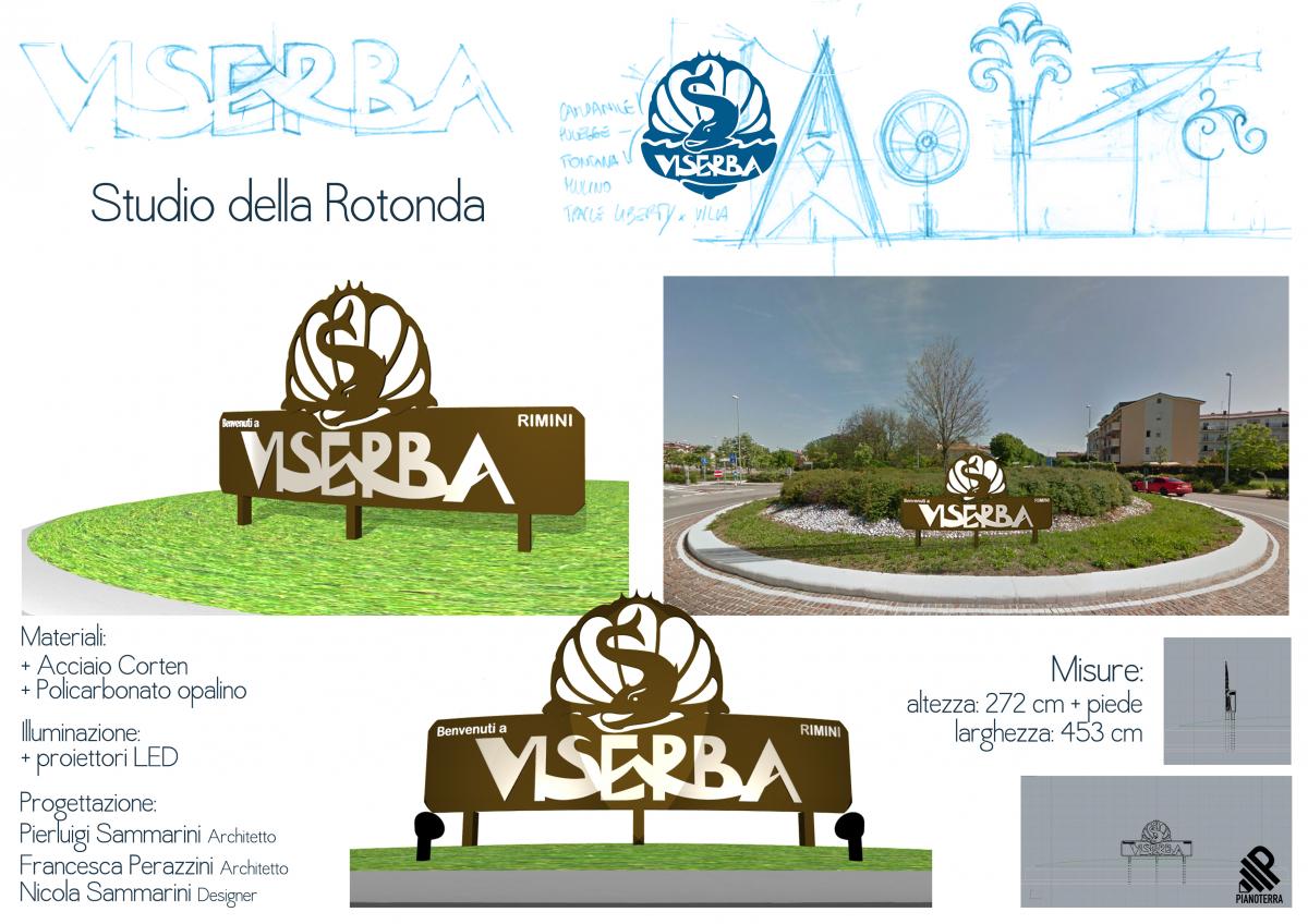 Rimini, un tritone sulla conchiglia come benvenuto a Viserba