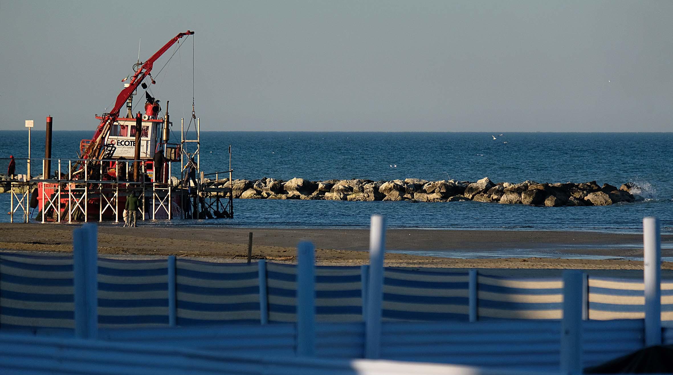Rimini, le scogliere di Viserbella saranno abbassate