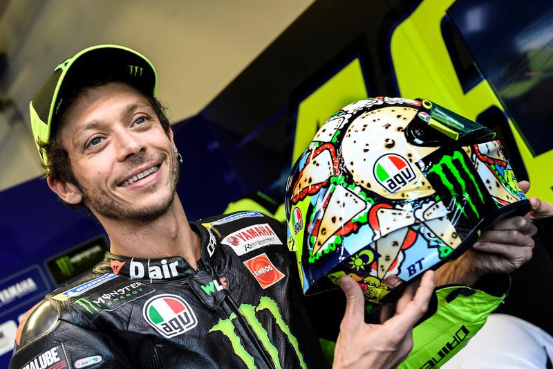 MotoGp, il casco di Valentino Rossi a Misano - GALLERY