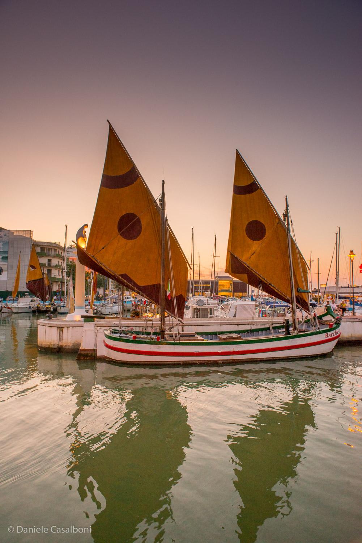 La barca storica Saviolina da Riccione a Trieste per la Barcolana