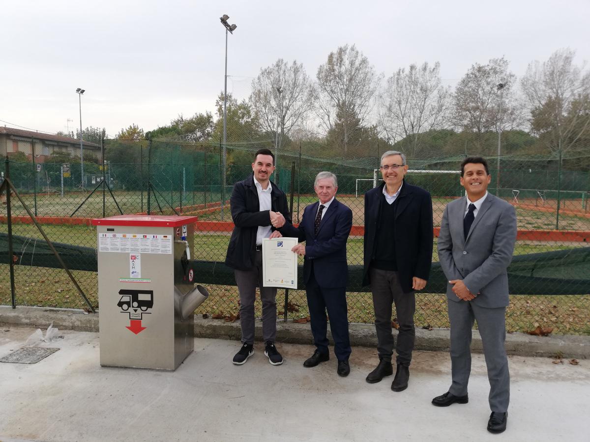 A Cesenatico inaugurata la nuova area camper all'ex Peligro