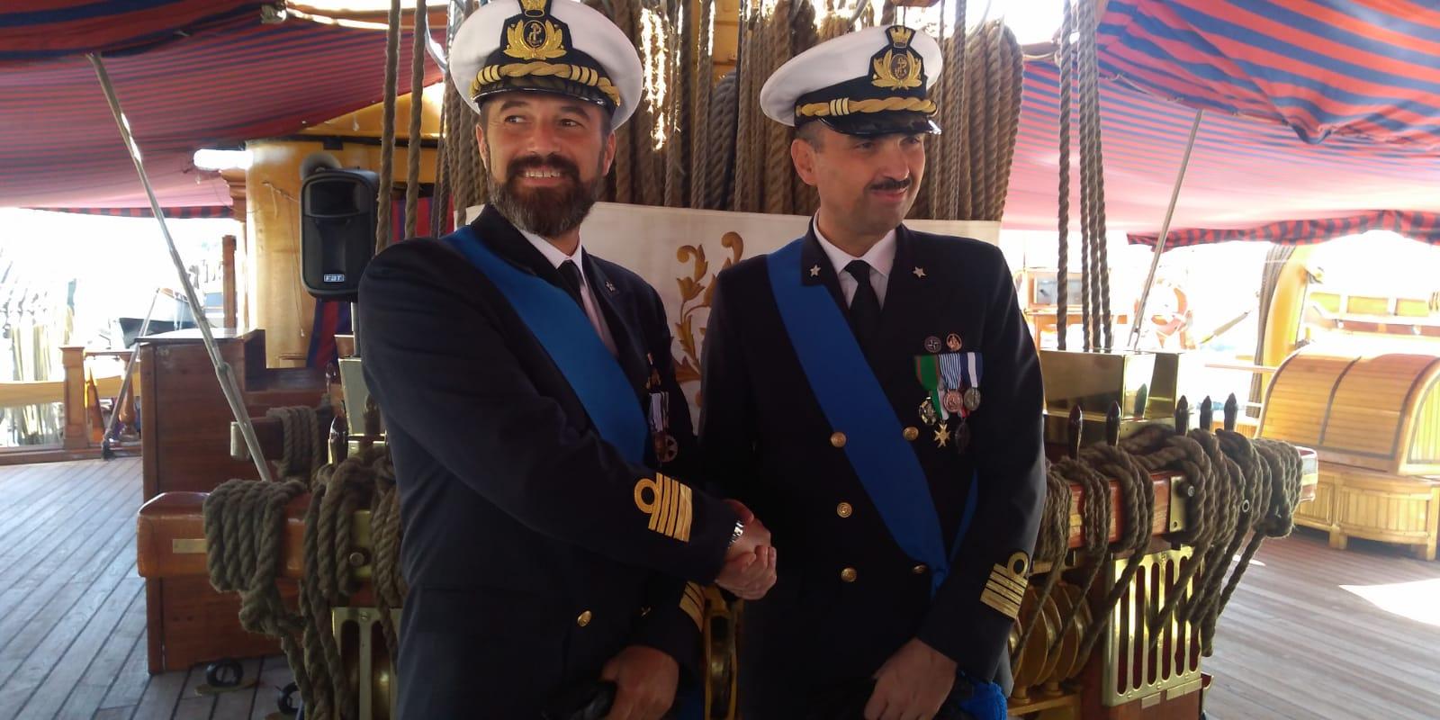 Forlì, Bacchi da allievo al timone della Vespucci come comandante