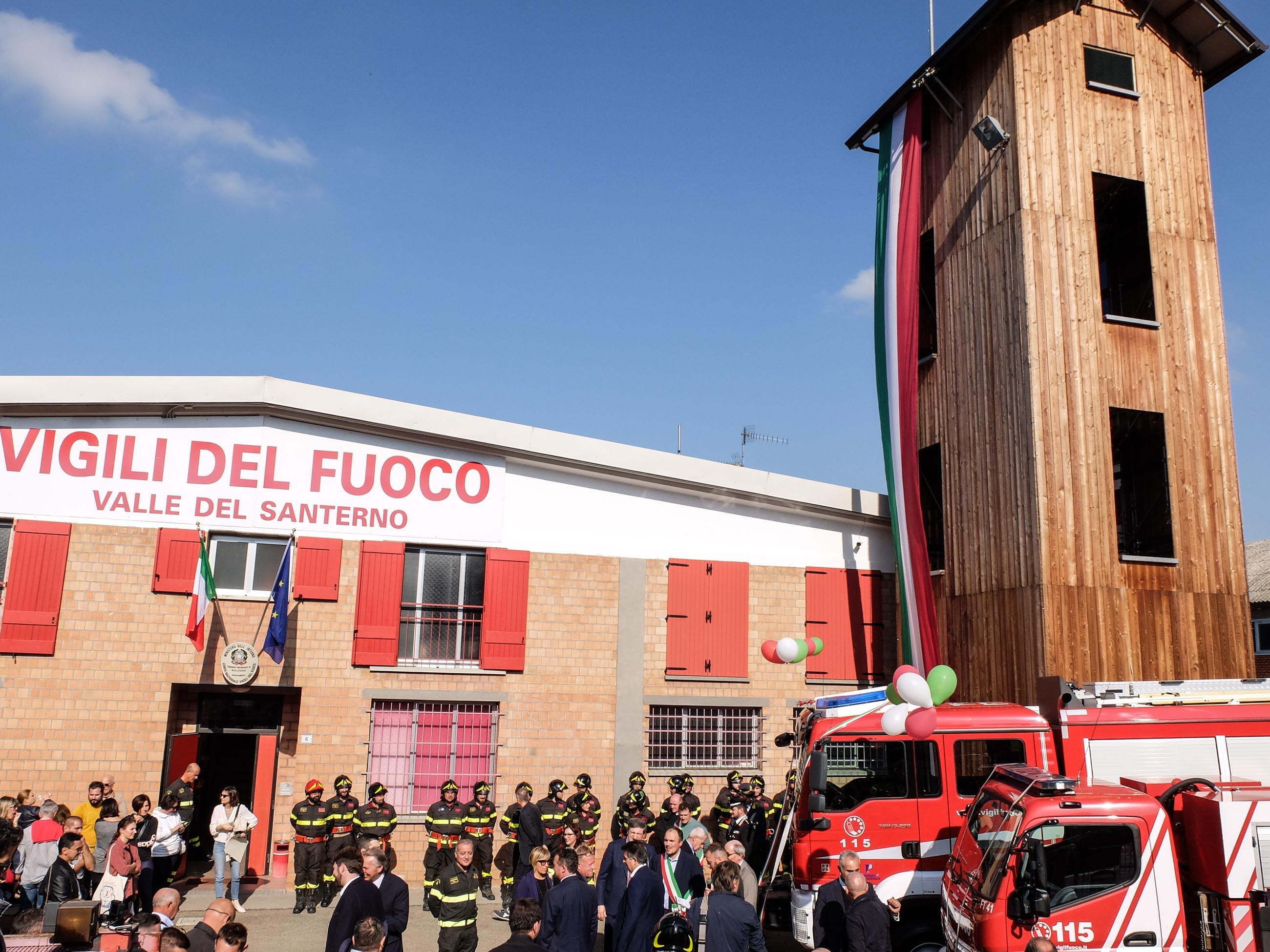 Inaugurati automezzi e castello di manovra dei pompieri a Fontanelice