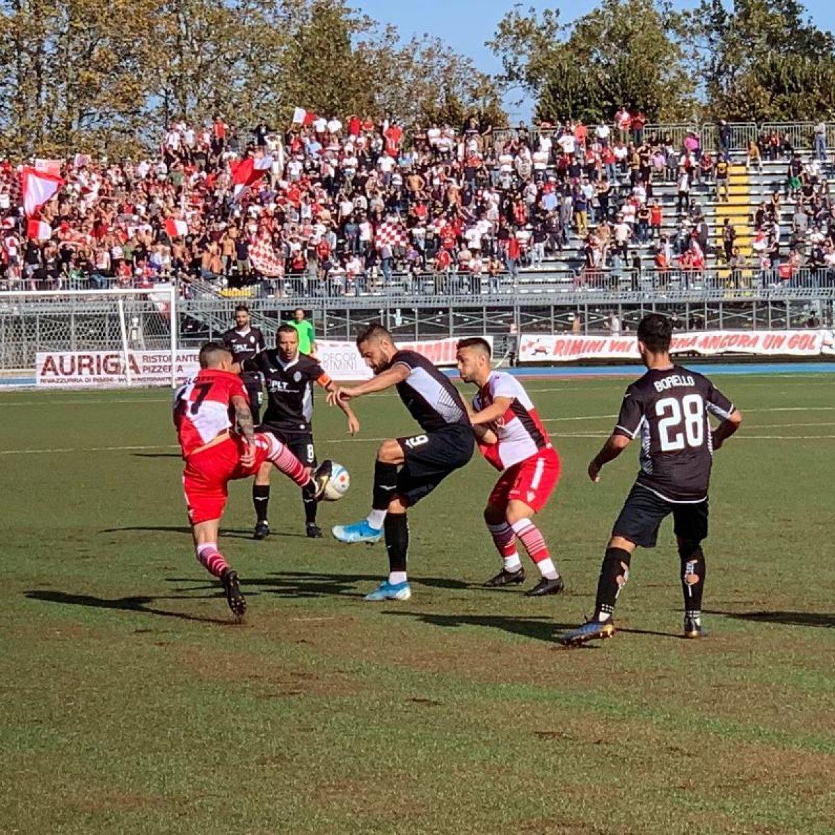 Calcio Serie C, il derby porta un punto che piace solo al Rimini (1-1)