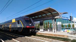 Rock, il nuovo treno regionale ferma in Fiera a Rimini