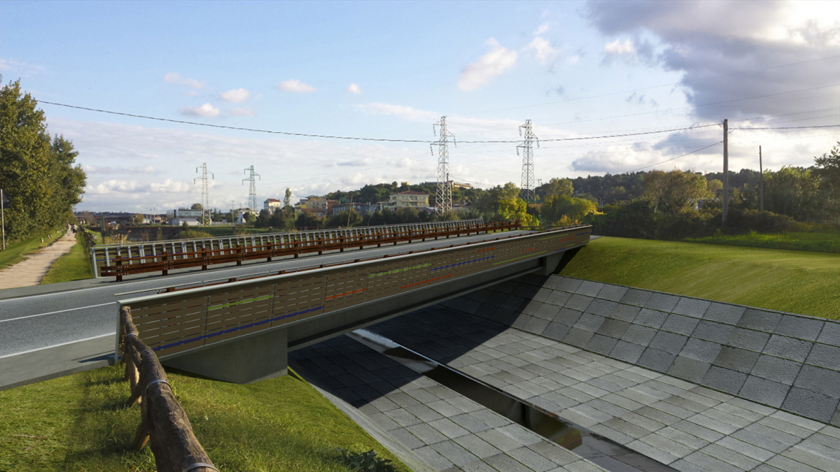 Rimini, domani nasce il nuovo ponte sull'Ausa
