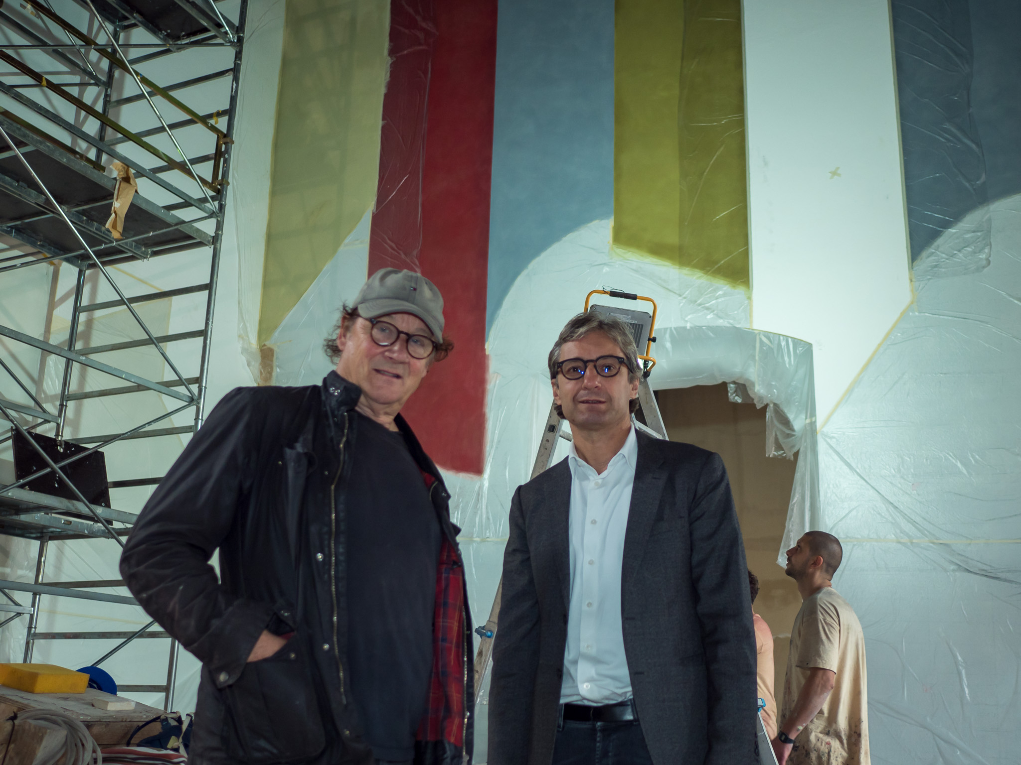 L'artista David Tremlett visita il nuovo Museo di Rimini