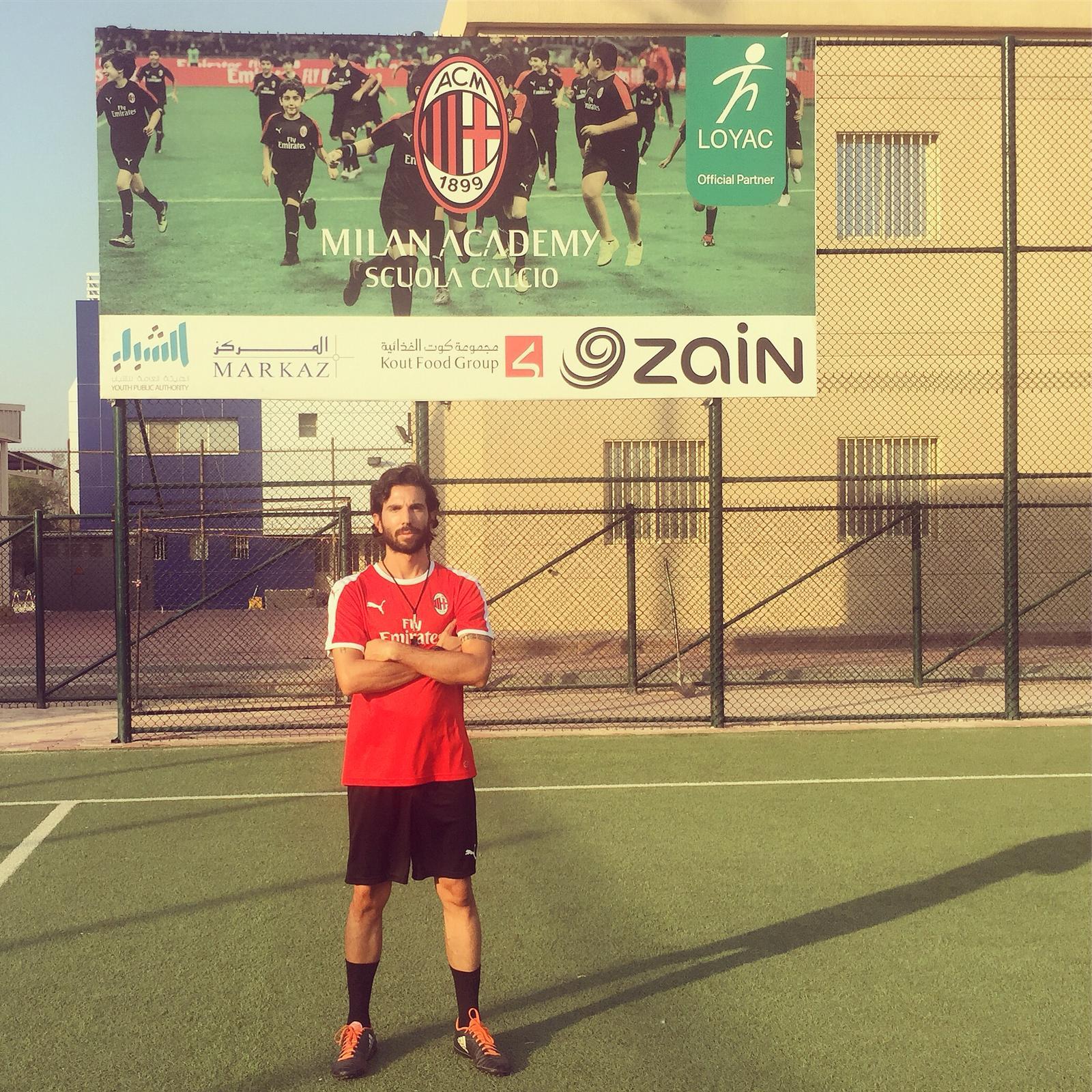Da Ravenna ad allenatore in Kuwait per la Milan Academy