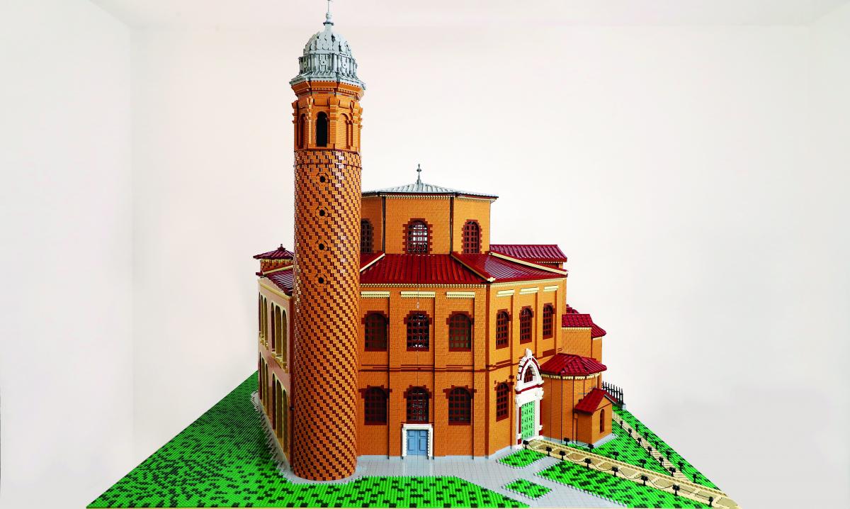 Arriva a Ravenna la Basilica di San Vitale fatta con 130mila Lego