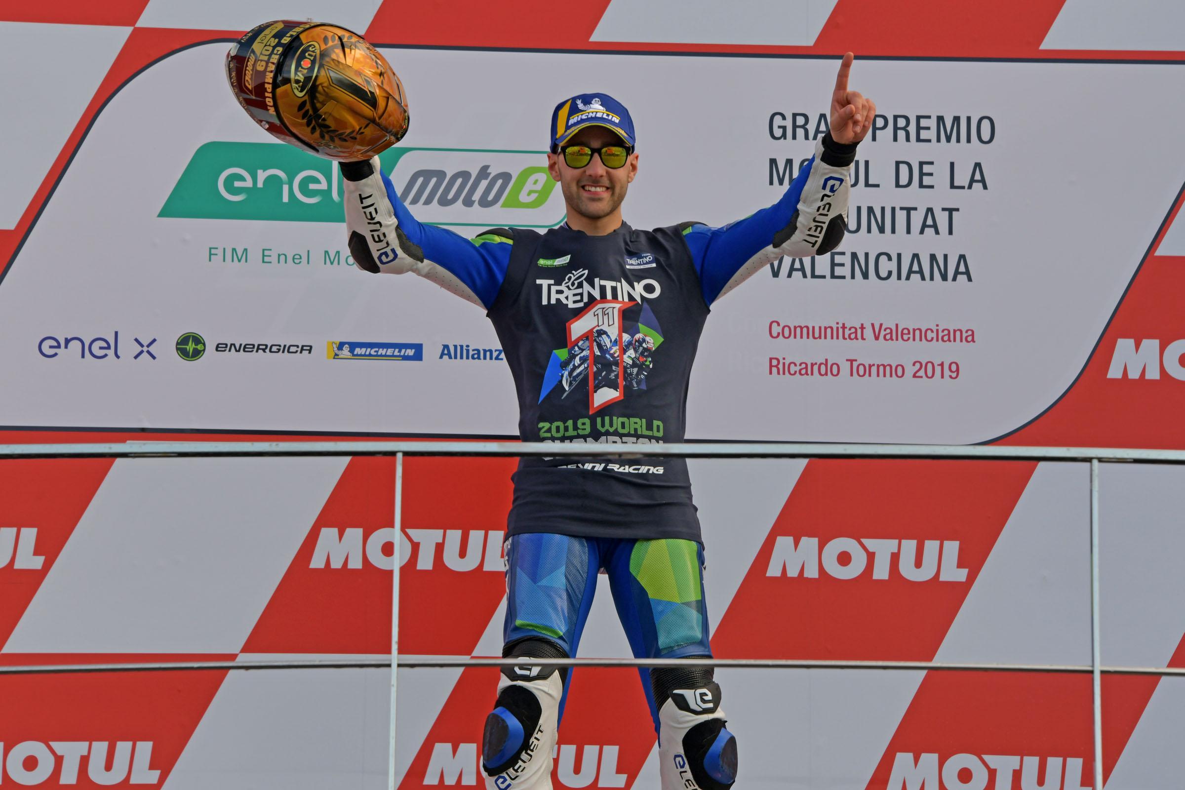 MotoE, Matteo Ferrari campione del mondo 2019