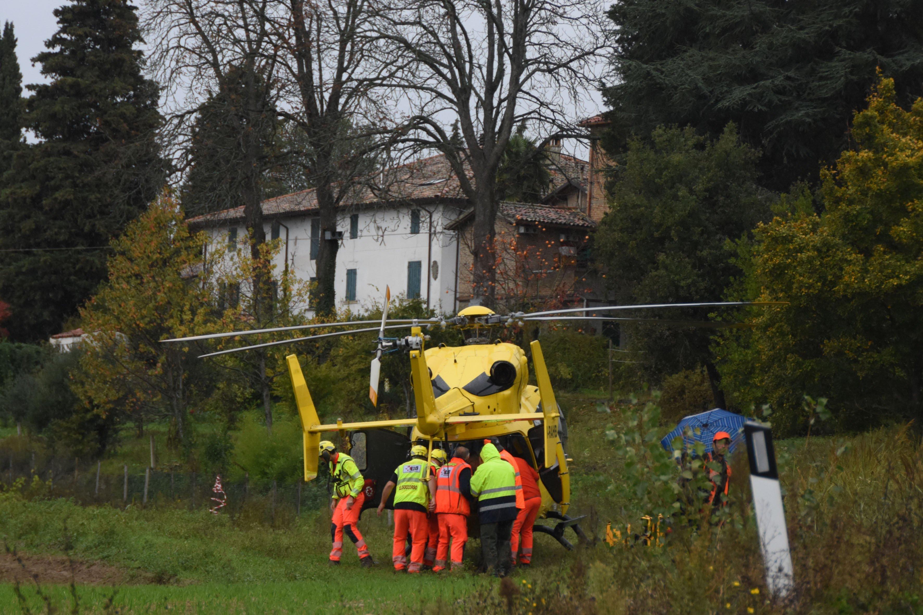 Colpito alla caccia al cinghiale a Predappio Grave 62enne di Bertinoro