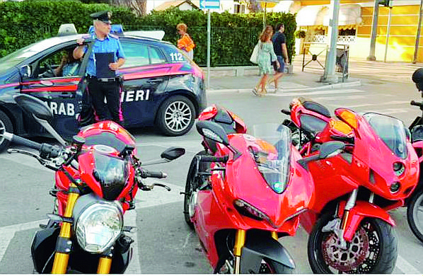 Rimini, sgominata la banda dei ladri delle moto Ducati