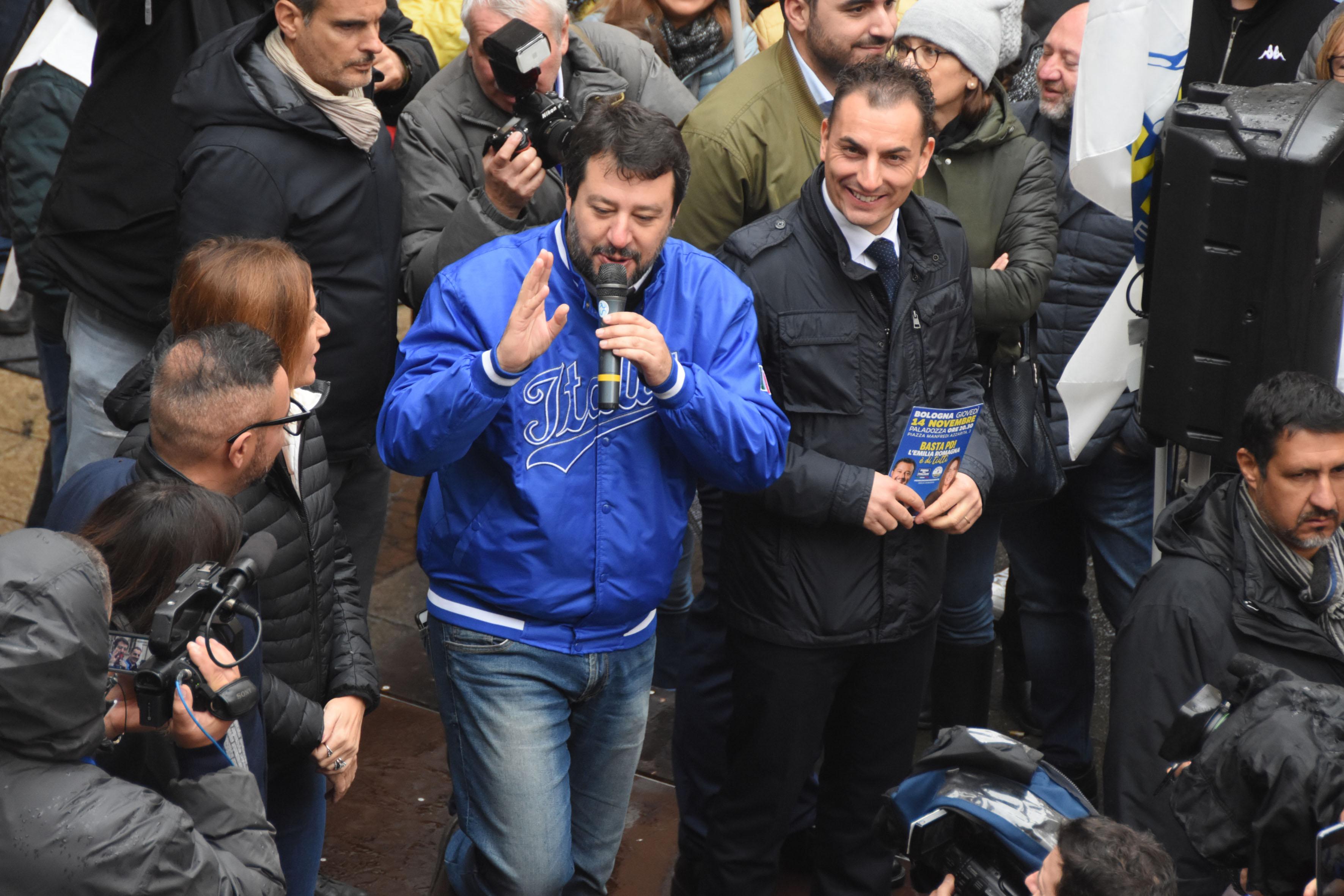 Salvini salta piazza Tre Martiri a Rimini: va a Coriano e Verucchio