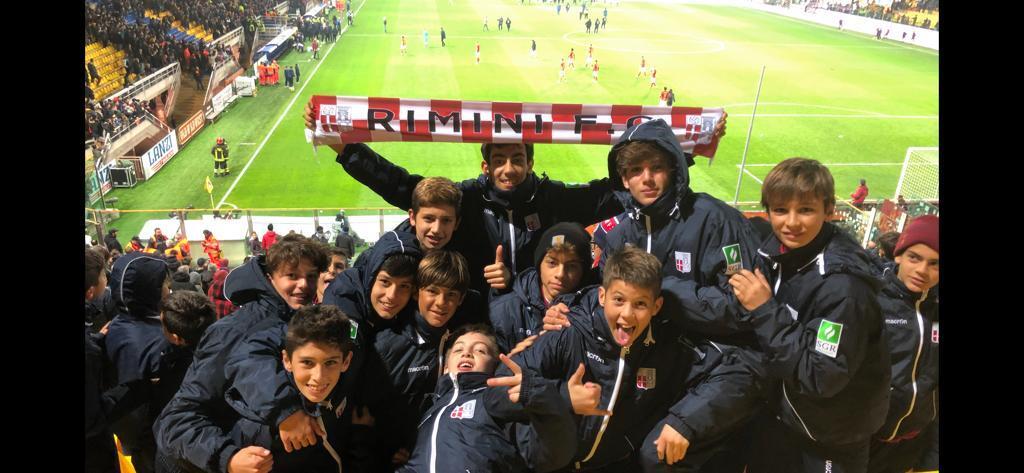 Calcio, i ragazzi del Rimini domenica allo stadio Tardini