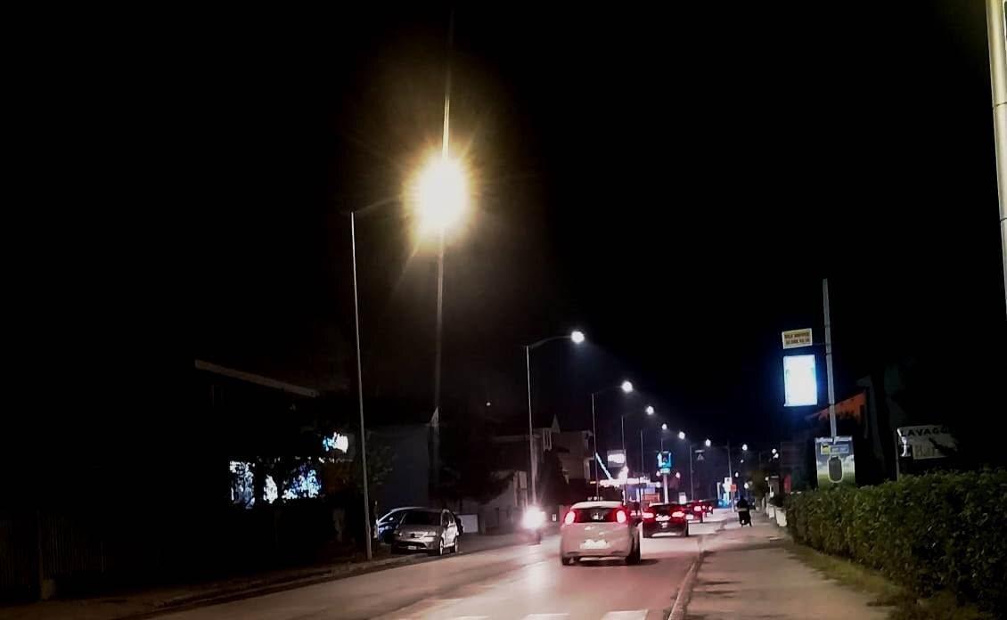 Cattolica. Nuova illuminazione a led in via Emilia Romagna