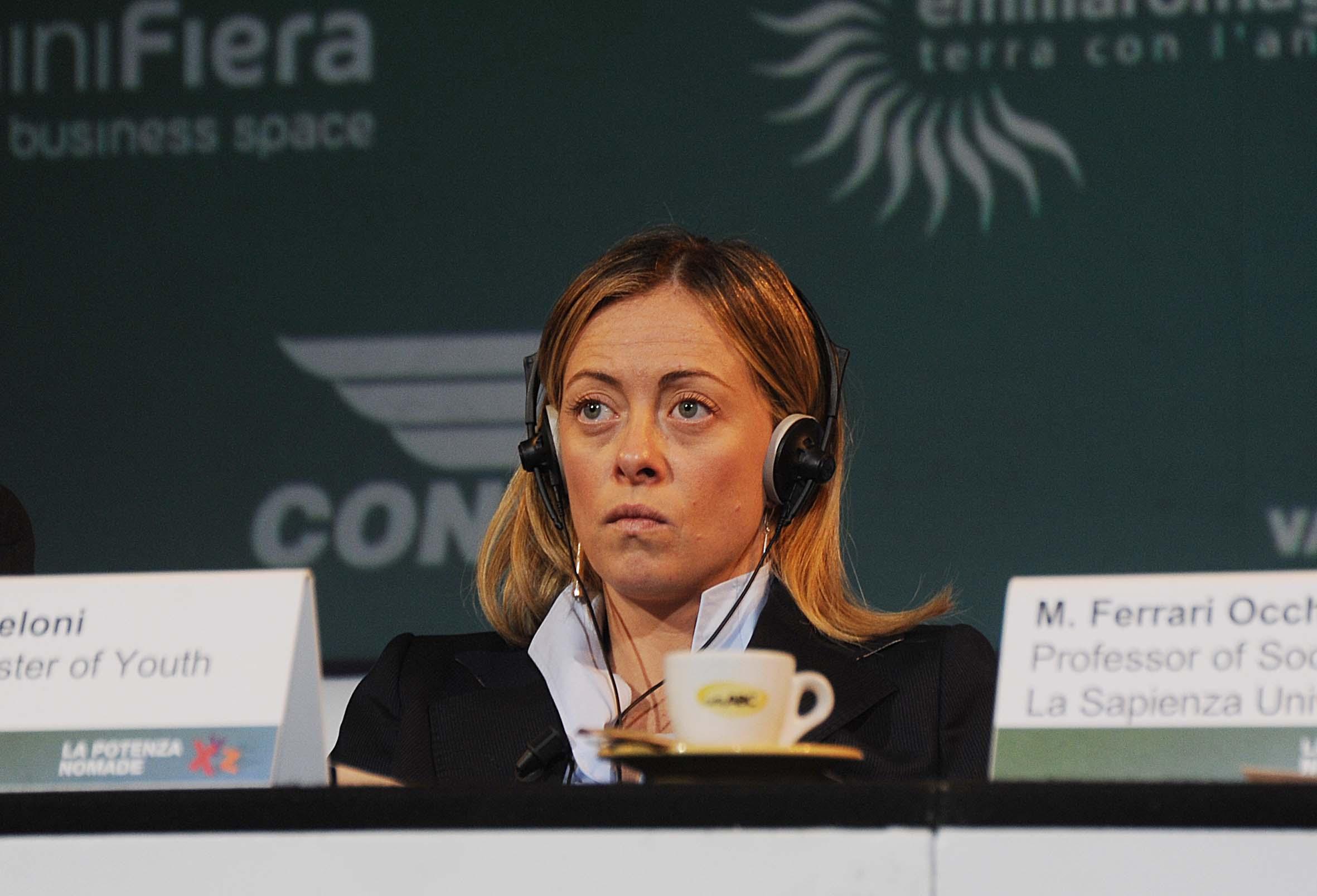 Elezioni, a Forlì il presidente di Fratelli d'Italia Giorgia Meloni