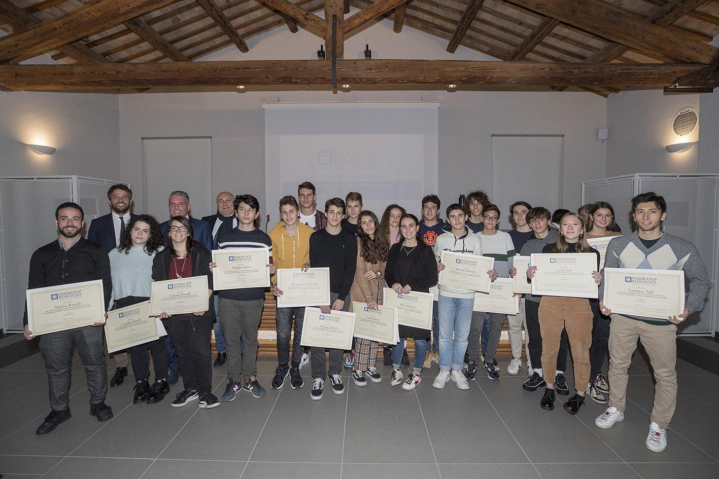 Federcoop Romagna premia i figli dei dipendenti
