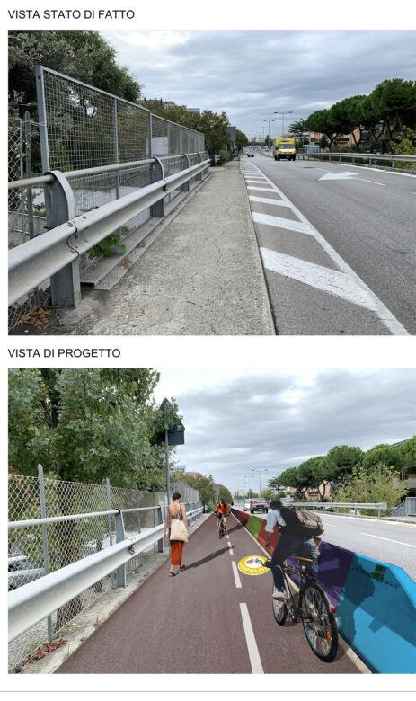 Rimini, nuova pista ciclabile dalla stazione all'ospedale