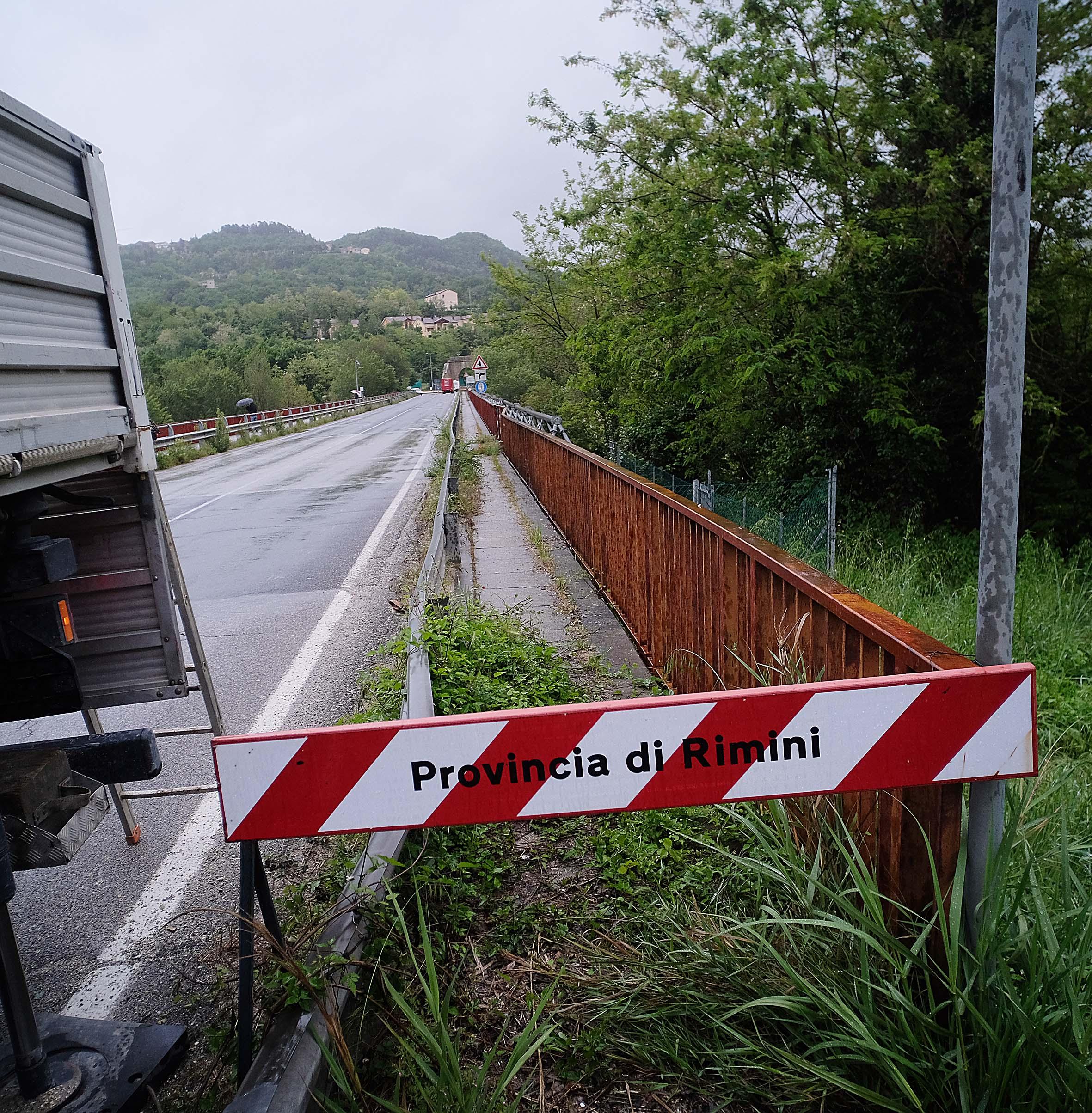 Allerta meteo, chiusura totale per Ponte Verucchio