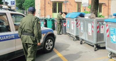Rifiuti abbandonati a Santarcangelo: fioccano le sanzioni