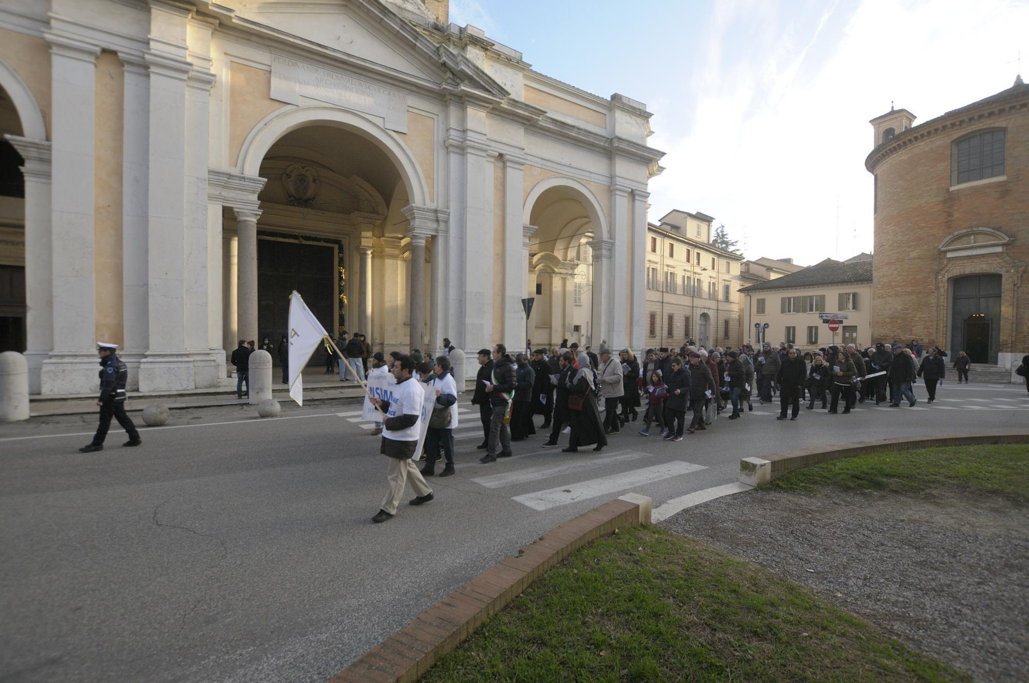 """La Marcia della Pace di Ravenna """"conquista"""" il Papa"""