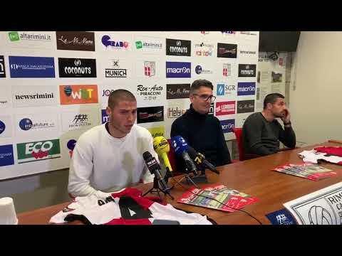 Calcio, il Rimini accoglie Agnello e Letizia - VIDEO