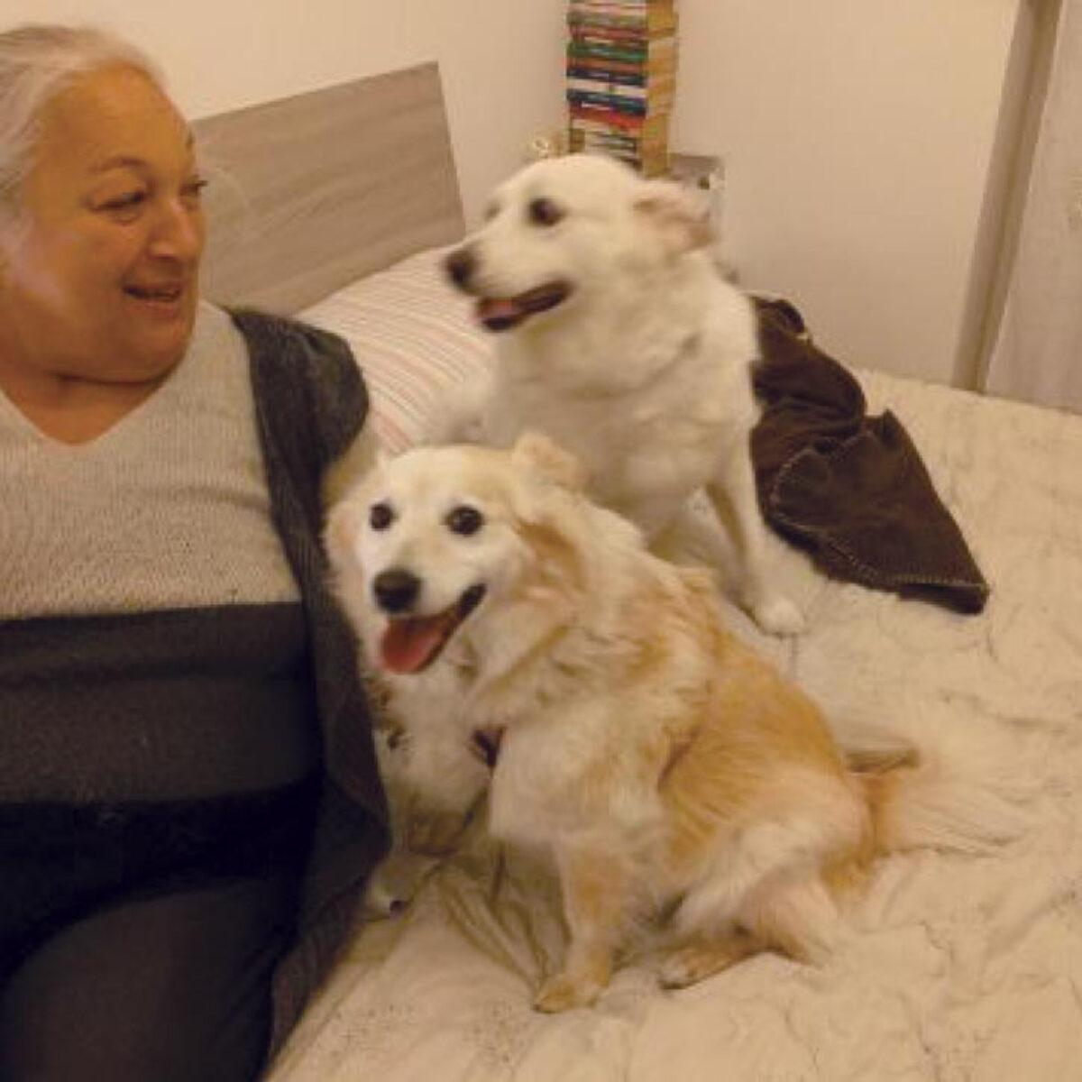 Riccarda è volata via: ora adottate i suoi cani