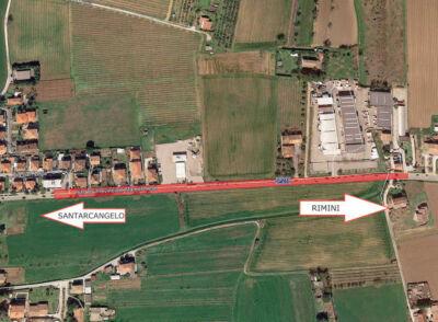 Lavori Hera a Santarcangelo, dal 17 febbraio senso unico in via Marecchiese