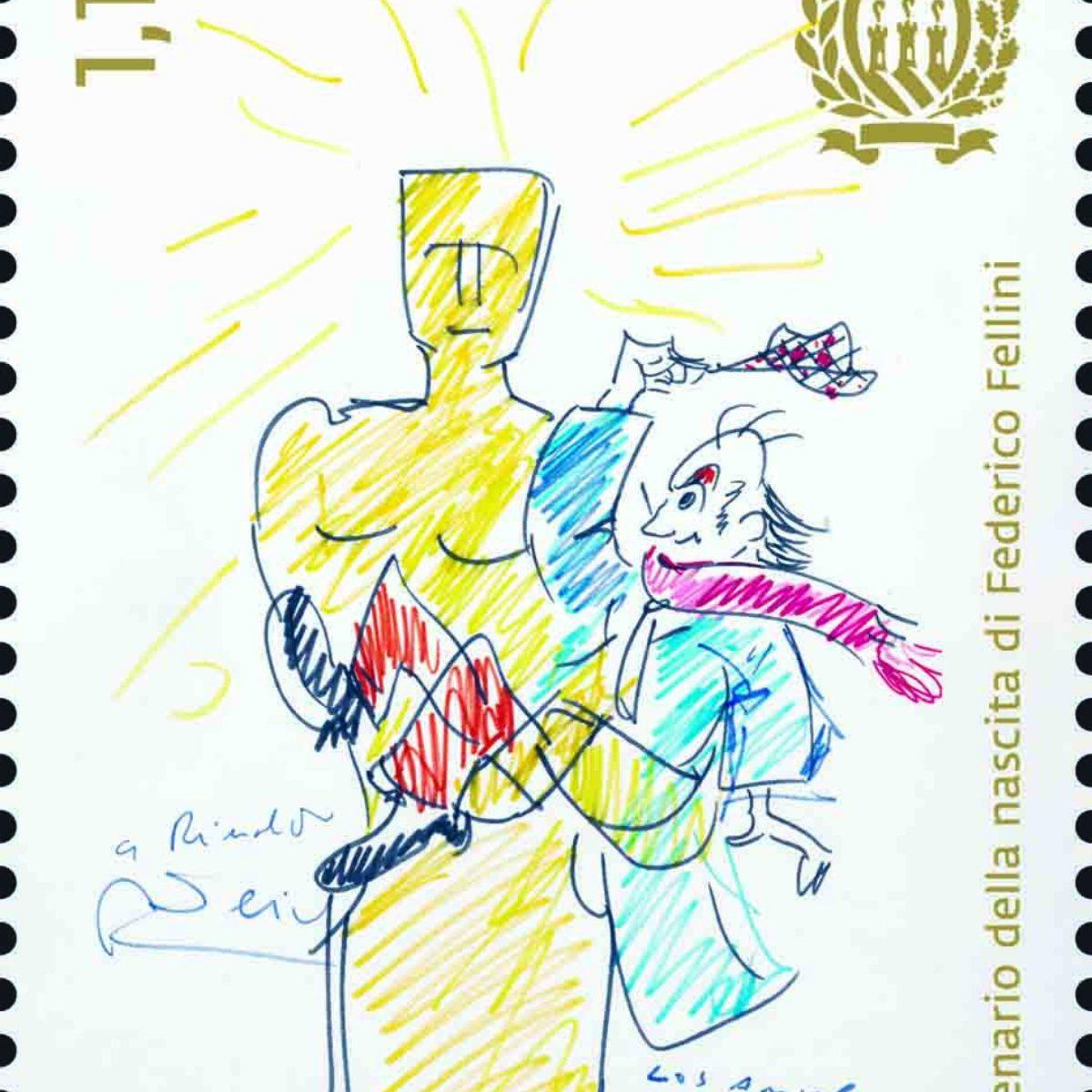 Un francobollo per Federico Fellini