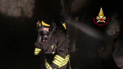 Santarcangelo: incendio brucia un'abitazione