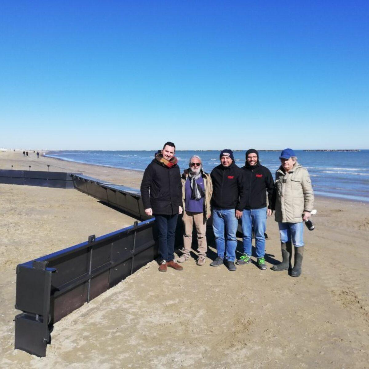Cesenatico, in spiaggia sperimentazione contro l'erosione