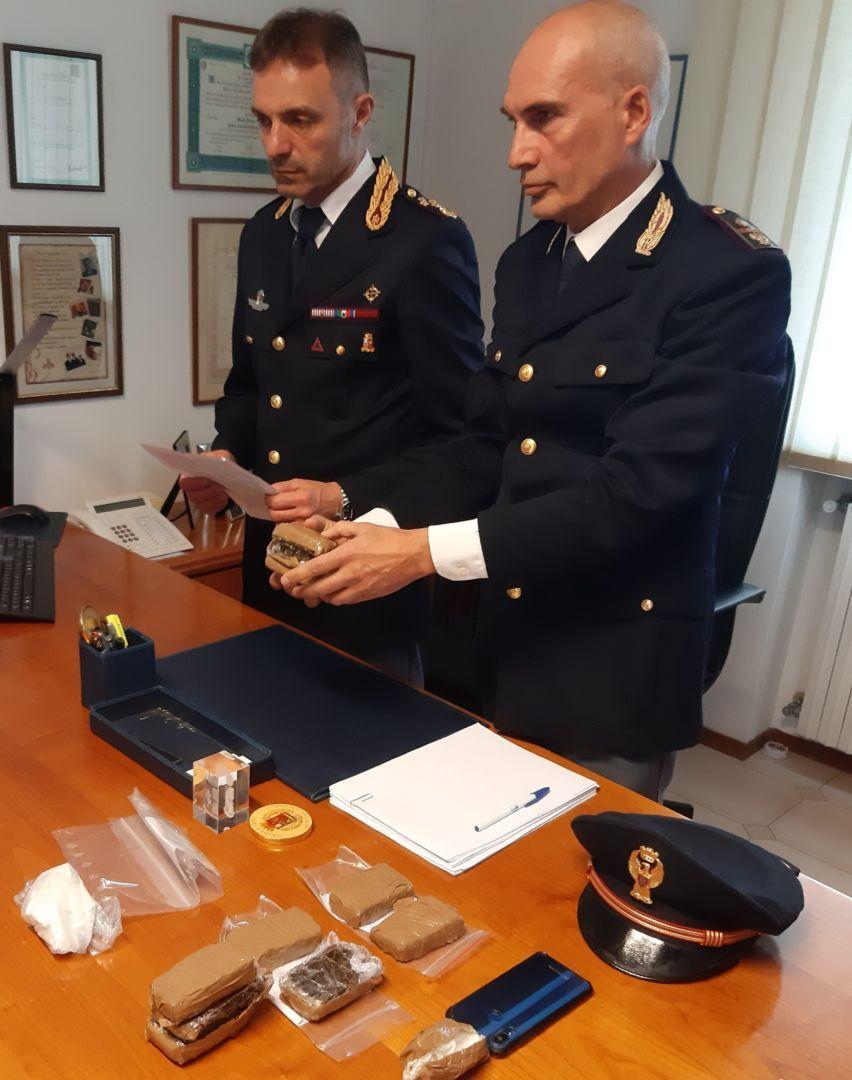 Un chilo di hashish, due arresti a Cesena
